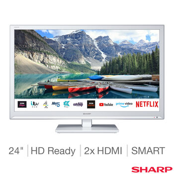 Sharp 1T-C24BC0KR1FW 24 Inch HD Ready Smart TV