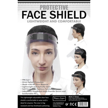 Winter in Venice Face Shields, 4 Pack