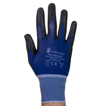 Tornado Contour Air Industrial Safety Gloves - 20 Pairs in 3 Sizes