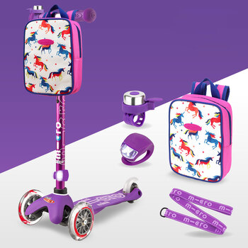 Micro Mini Scooter Deluxe Gift Set Bundle in Purple (2+ Years)