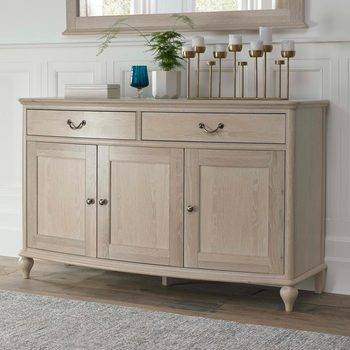 Bentley Designs Margaux Chalk Oak Wide Sideboard