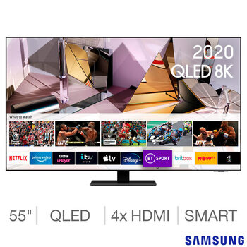 Samsung QE55Q700TATXXU 55 Inch QLED 8K Ultra HD Smart TV