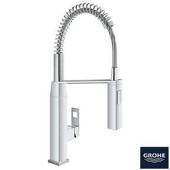 GROHE Eurocube Single-Lever Spring Mixer Tap in Chrome - Model 31395000