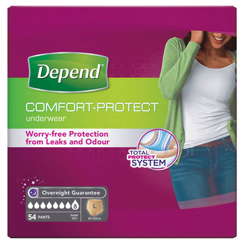 Depend Underwear for Women in Large, 54 Pack