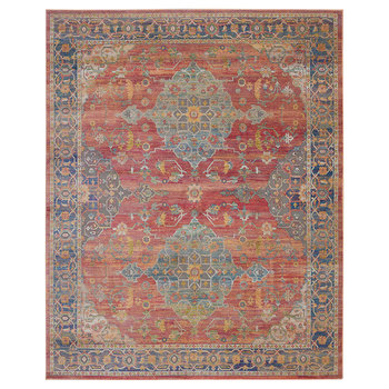 Ankara Multicoloured Traditional Medallion Rug in 2 Sizes