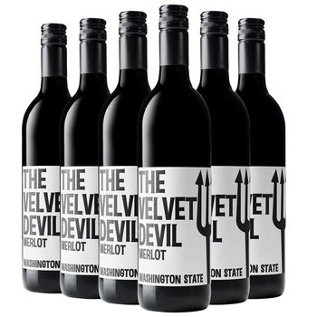 The Velvet Devil Merlot Washington State 2017, 6 x 75cl
