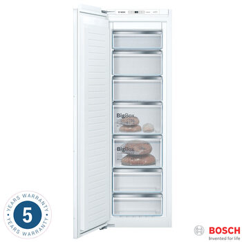 Bosch GIN81AEF0G, Integrated Freezer A++ Rating in White