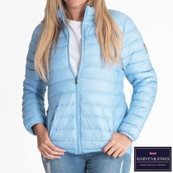 Harvey & Jones Jenny Women's Ultra Lightweight Down Jacket in 3 Colours and 6 Sizes