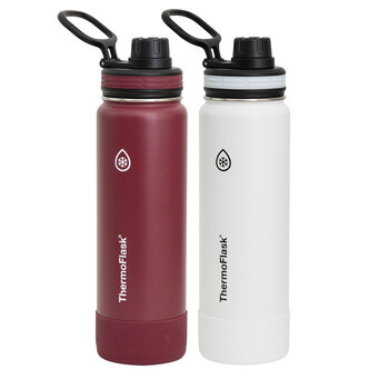 Thermoflask Autospout Double Wall Vacuum Insulated 710ml Water Bottles, 2 Pack in 2 Colours