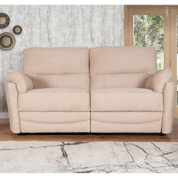 Minster 3 Seater Fabric Power Recliner Sofa in Rich Beige