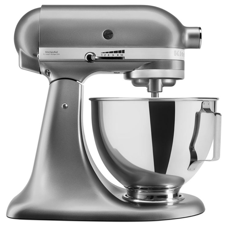 kitchenaid 4 3 l stand mixer with pouring shield in silver 5ksm95psbcu costco uk