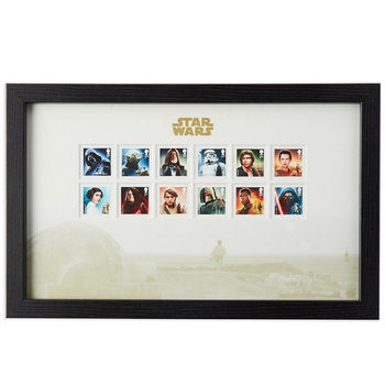 STAR WARS™ Framed Royal Mail® Special Character Collectible Stamps with Tatooine Backdrop