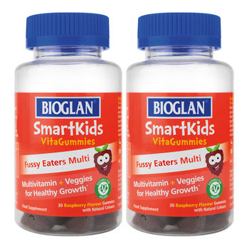 Bioglan SmartKids VitaGummies Fussy Eaters, 2 x 30ct (2 Months Supply)