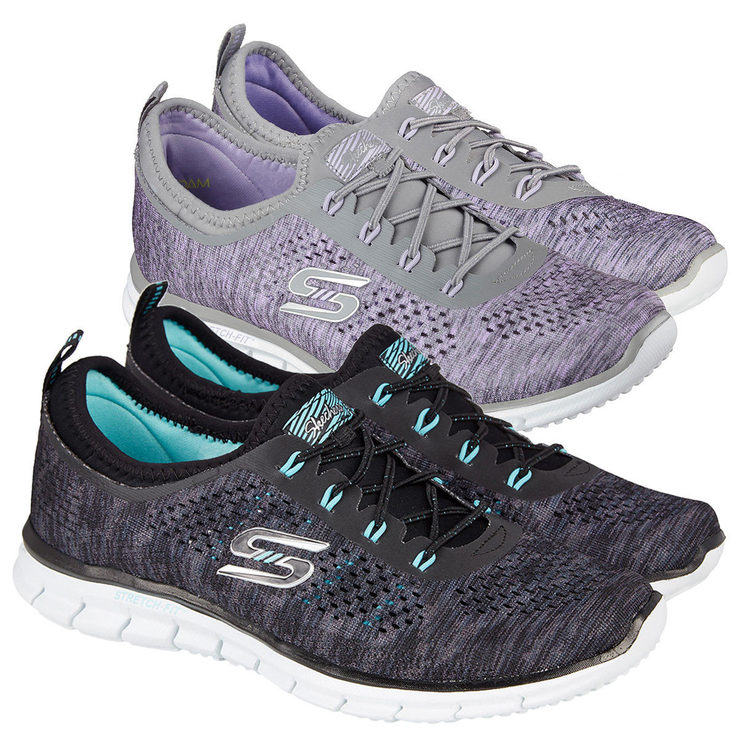 Costco Print Sizes >> Skechers Glider - Deep Space Womens Shoes in 8 Sizes and 2 Colours | Costco UK