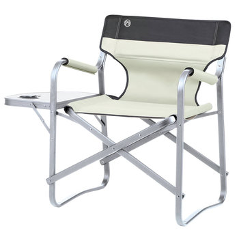 Coleman Folding Deck Chair with Table in Khaki
