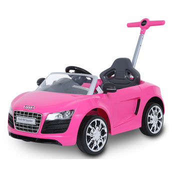 Rollplay Audi R8 Spyder Children's Push Car Ride On - Pink (12+ Months)
