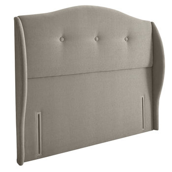 Silentnight Camden Sandstone Fabric Full Height Headboard in 3 Sizes