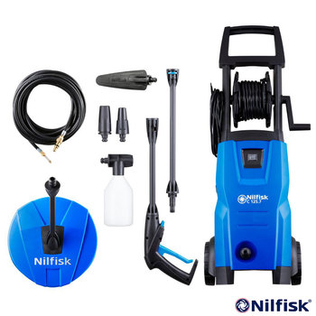 Nilfisk C125.7-6 Maintenance X-Tra Pressure Washer with Patio Cleaner, Drain Cleaner and Wash Brush