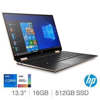 HP Spectre, Intel Core i7, 16GB RAM, 512GB SSD, 13.3 Inch Convertible Laptop, 13-aw2024na