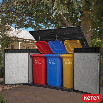 "Keter Grande Store 6ft 3"" x 3ft 7"" (1.9 x 1.1 m) Horizontal Storage Shed"