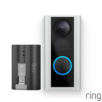 Ring Full HD 1080p Door View Cam with Additional Quick Release Battery