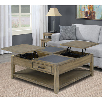 Bainbridge Home Square Lift Top Coffee Table