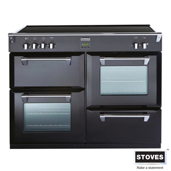 Stoves Richmond 1100EI Dual Fuel Range Cooker in Black