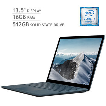 Microsoft Surface Laptop, i7-7200,16GB RAM, 512GB Solid State Drive, 13.5 Inch Notebook in 4 Colours