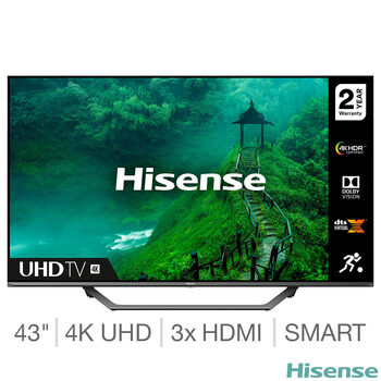 Hisense 43AE7400FTUK 43 Inch 4K Ultra HD Smart TV