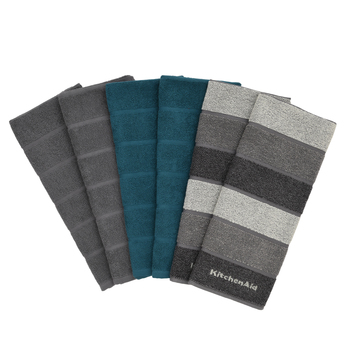 KitchenAid 6 Pack Kitchen Towels in 3 Colours