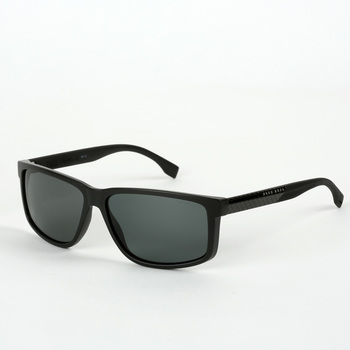 Hugo Boss Matte Black Sunglasses with Grey Polarised Lenses, 0833/S HWMRA