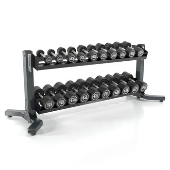 Escape Fitness 2-20 kg Dumbbell Set with RACKDB10 Rack