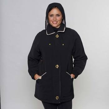David Barry Women's Elegant Belted and Hooded Padded Jacket in 7 sizes and 5 Colours