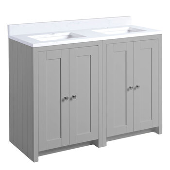 Tavistock Axbridge 118.6 cm Double Freestanding Underslung Vanity in 2 Colours