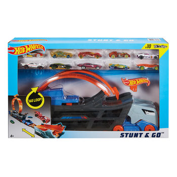 Hot Wheels Stunt And Go Hauler With 10 Cars (6+ Years)