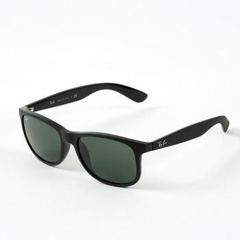 Ray-Ban Andy Matte Black Sunglasses with Green Lenses, RB4202 6069/71