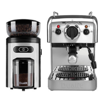 Dualit DCM2X Coffee Machine and Coffee Grinder Set