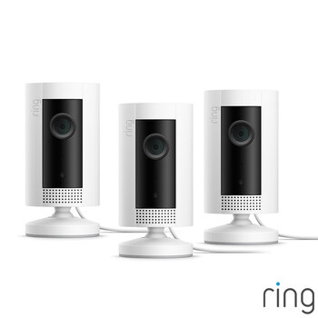 Ring Wired Indoor Camera (Gen 1) Three Pack in Two Colours