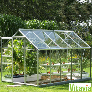 "Vitavia Vermont 6200 6ft 2"" x 10ft 4"" (2 x 3.2 m) Greenhouse Package"
