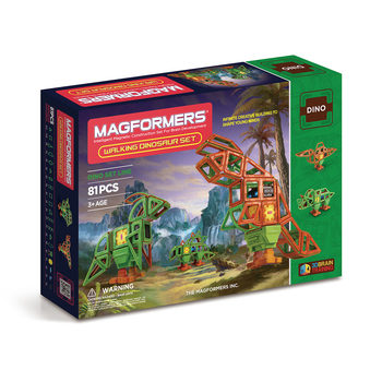Magformers Magnetic Construction Walking Dinosaur 81 Piece Set (3+ Years)
