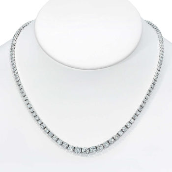 10.20ctw Round Brilliant Cut Diamond Necklace, 18ct White Gold