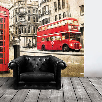 Grosfillex London Bus Wall Graphic - 5.85m ²