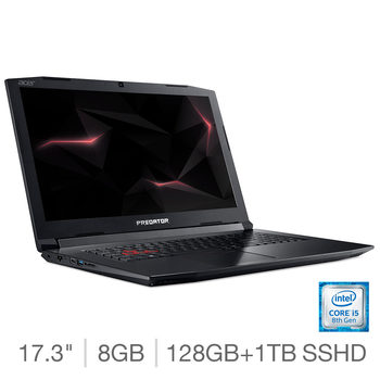 Acer Helios 300 PH317-52, Intel Core i5, 8GB RAM, 128GB SSD + 1TB HDD, NVIDIA GeForce GTX 1050 Ti (4G), 17.3 inch Notebook