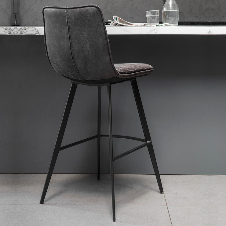 gallery palmer grey faux leather bar stool 2 pack costco uk. Black Bedroom Furniture Sets. Home Design Ideas
