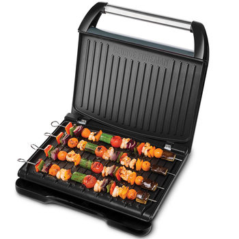 George Foreman Entertaining  Steel Grill 25051