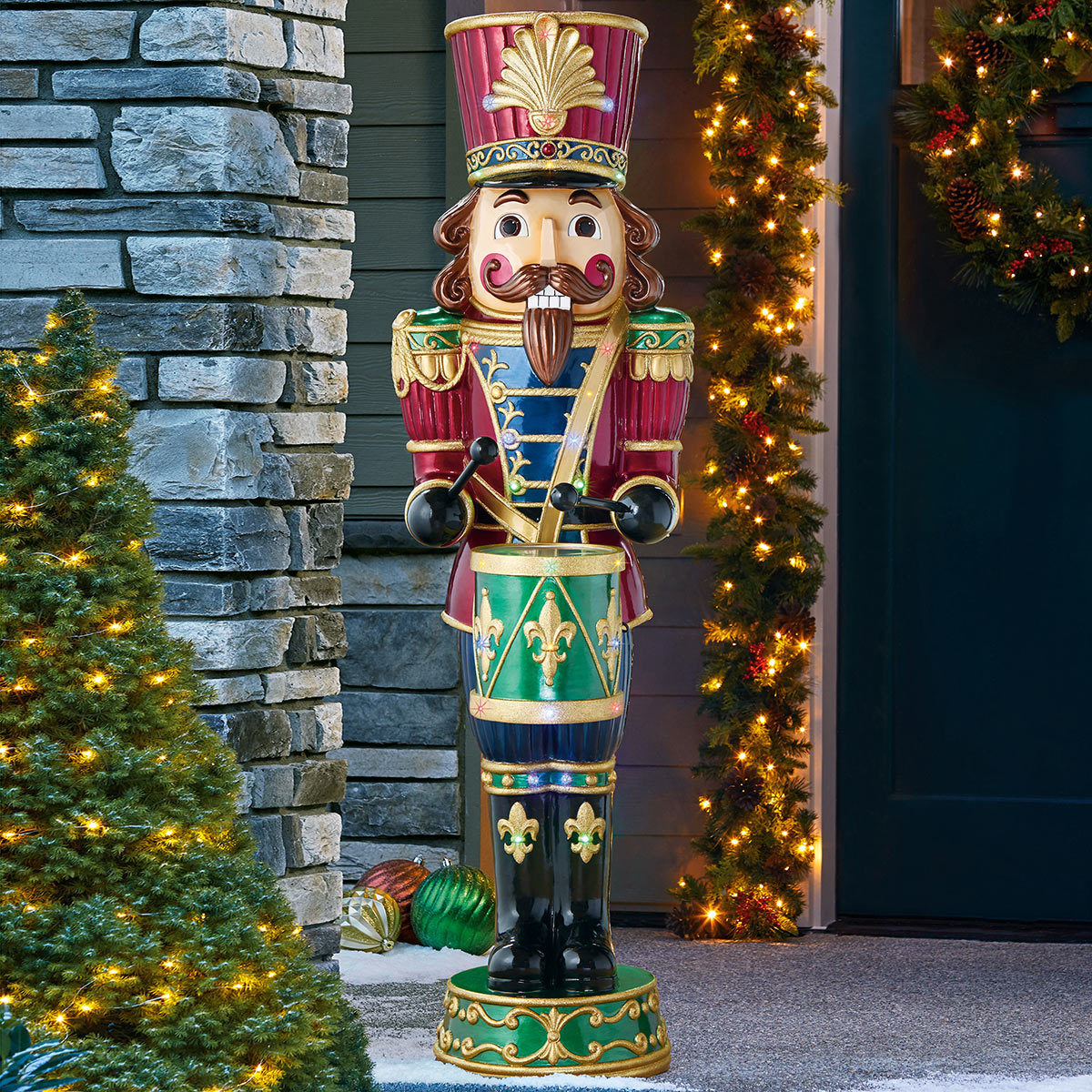 Indoor/Outdoor Christmas 6ft (1.8m) Musical Nutcracker With 34 LED Lights