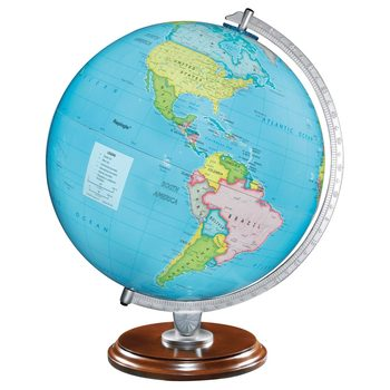 "Replogle 12"" (30.5 cm) Illuminated Globe with Wooden Base"