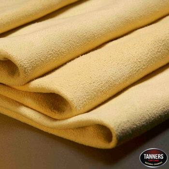 Tanners Tradition Chamois Leather Car Cleaning and Drying Cloths, 2 Pack