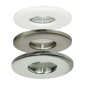 Luceco GU10 IP65 Fire Rated Water Resistant Down Lights (No Lamps) in 3 Colours - 10 Pack