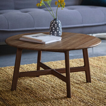 Gallery Getafe Round Coffee Table, Walnut